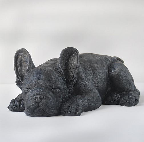 Sleeping Frenchie by White Moose (Black)
