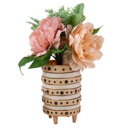Pink Vera Dot Planter by Allen Designs