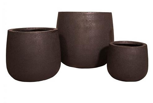 Fibrestone Duffel Pots (Black)