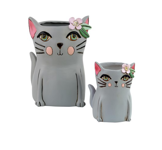 Pretty Kitty Planter by Allen Designs (Grey)