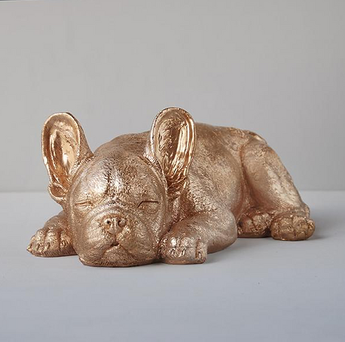 Sleeping Frenchie by White Moose (Gold)