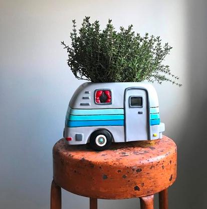 Happy Camper Planter by Allen Designs
