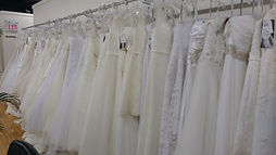 Large selection of wedding gowns to choose from