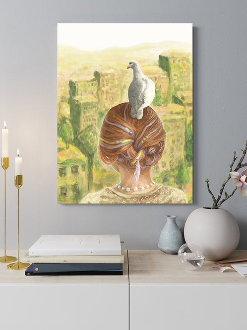 "Acrylglas Druck ""two doves"""