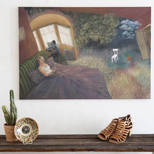 CLAIR DE LUNE, 100x70 cm, Öl auf Leinwand