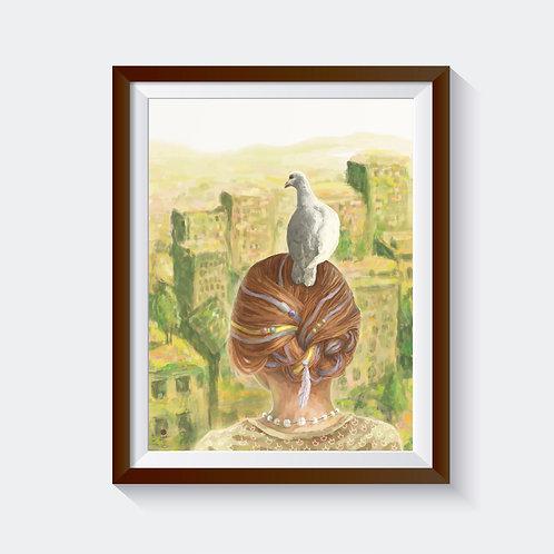 """Kunstdruck """"two doves"""""""