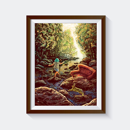"Kunstdruck ""on scottish waters"""