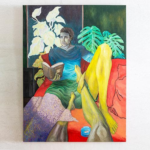 SIGU MAHR, 120x90 cm, Öl auf Leinwand
