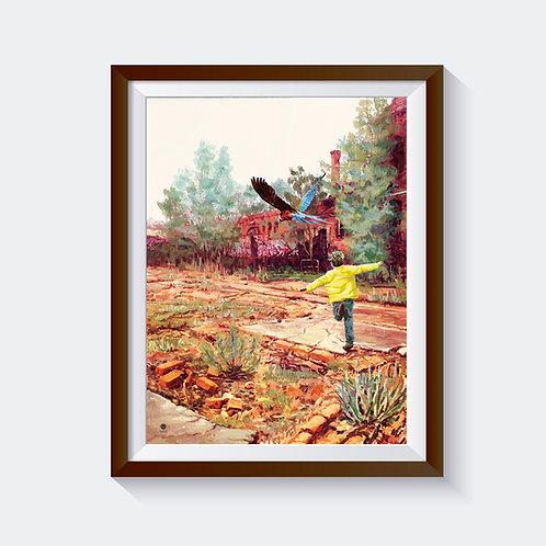 """Kunstdruck """"rainbirds"""""""
