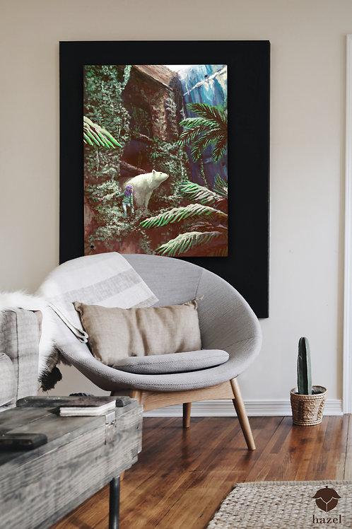 "Acrylglas Druck ""polarbear and palmtrees"""