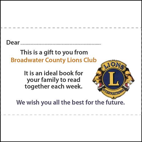 Sponsor sticker for book