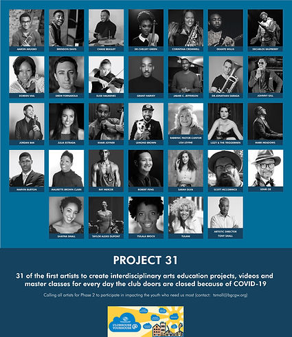 Project 31 Supporting Artists Marketing