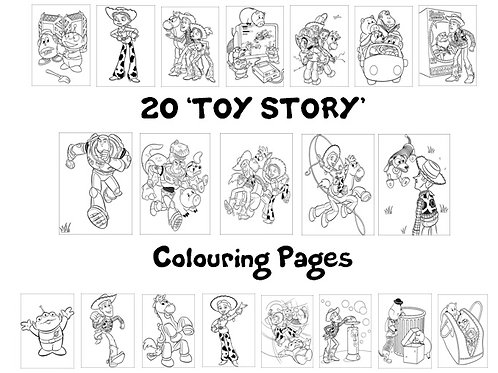 Toy Story - Colouring Pack