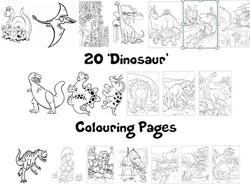 Dinosaurs - Colouring Pack