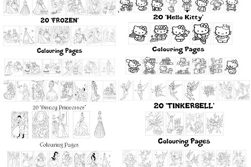 Mega Colouring Listing - All Packs on One Listing!