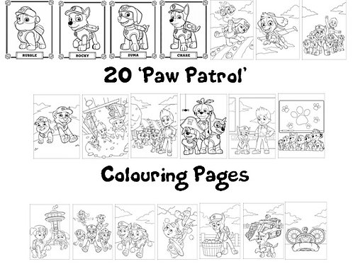 Paw Patrol - Colouring Pack
