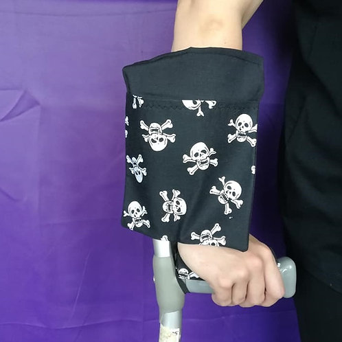 Black & Skulls - Crutch Cuff Bag