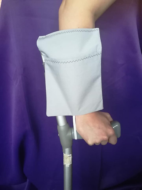 Plain Grey - Crutch Cuff Bag