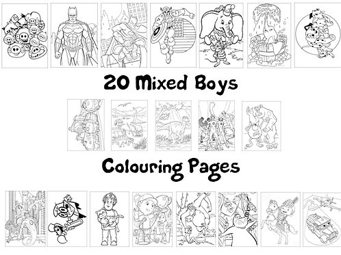 Mixed Boys - Colouring Pack
