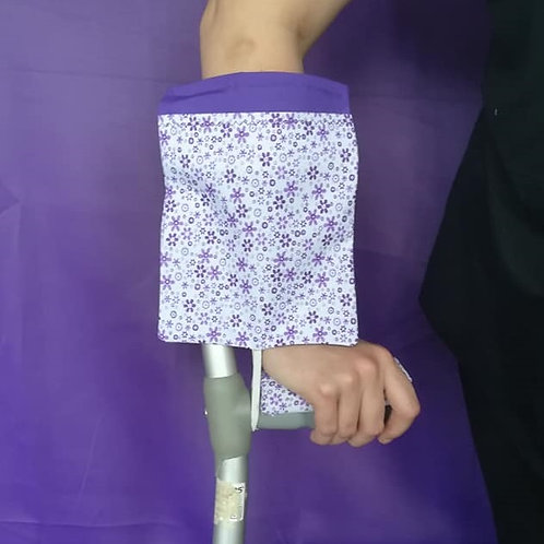 Purple Daisies - Crutch Cuff Bag