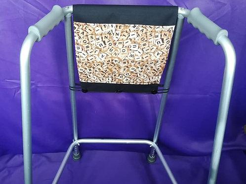 Black/Scrabble Zimmer Frame Bag