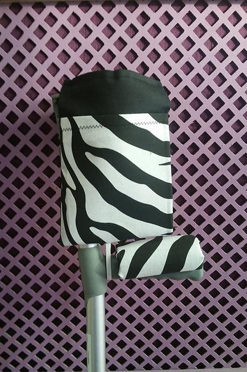 Zebra Print Crutch Bag