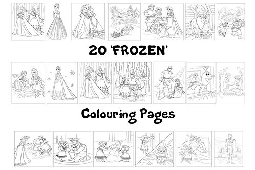 Frozen - Colouring Pack