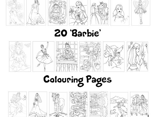 Barbie - Colouring Pack