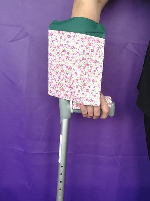 Pink Roses Crutch Bag