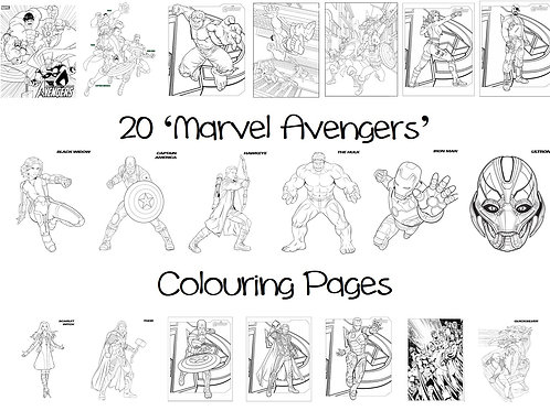 Avengers - Colouring Pack