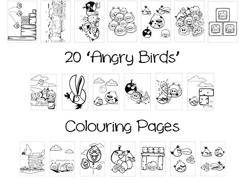 Angry Birds - Colouring Pack