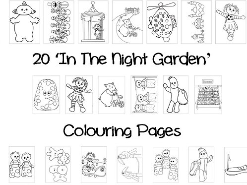 In The Night Garden - Colouring Pack