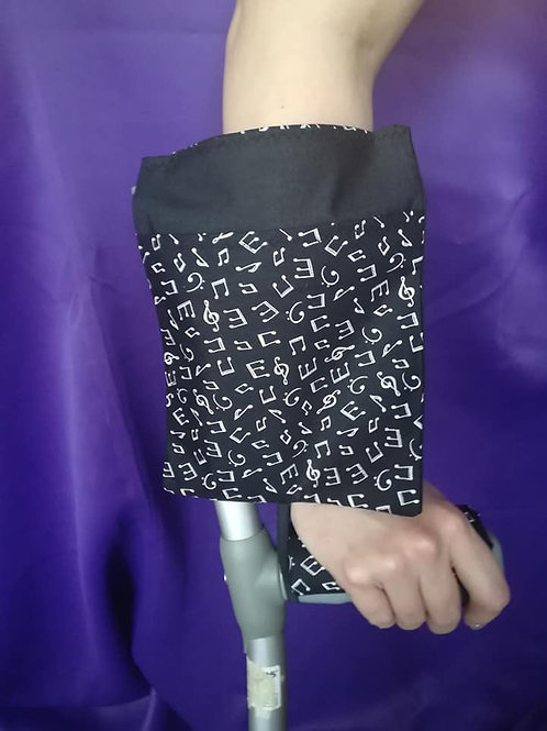 Music Notes - Crutch Cuff Bag