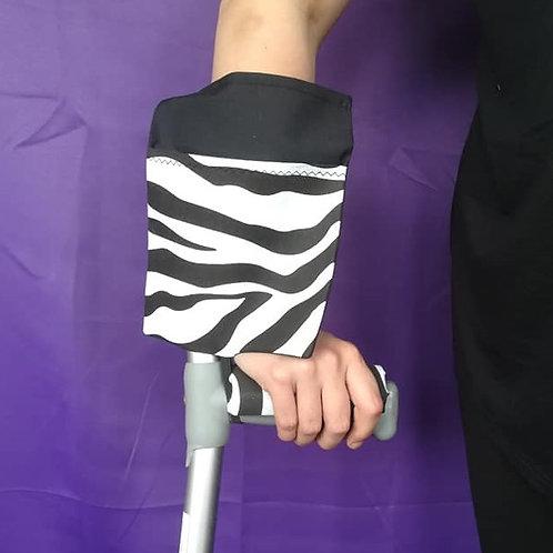Black & Zebra - Crutch Cuff Bag