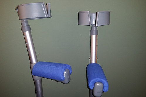 Blue Crutch Handle Covers (Pair)