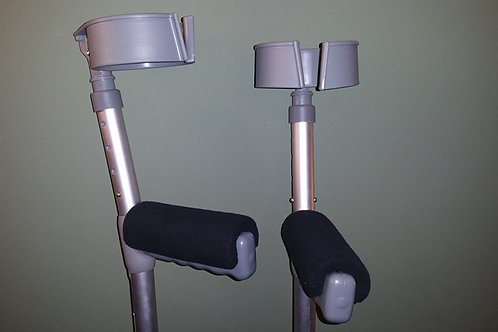 Black Crutch Handle Covers (Pair)
