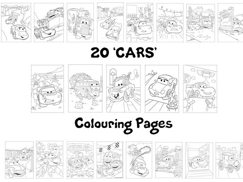 Cars - Colouring Pack
