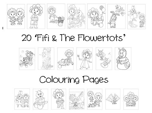 Fifi & The Flowertots - Colouring Pack