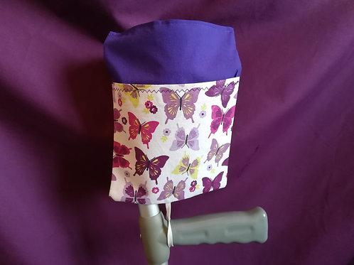 Purple Butterflies - Crutch Cuff Bag