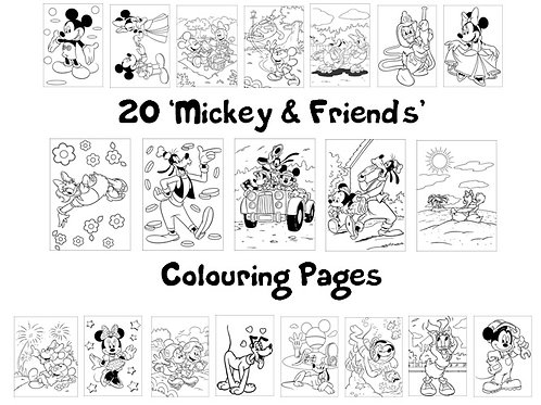 Mickey, Minnie & Friends - Colouring Pack