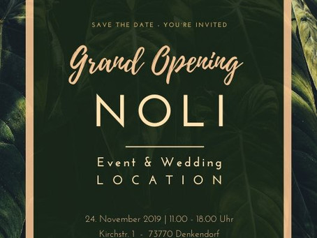 Grand Opening - Save the date!