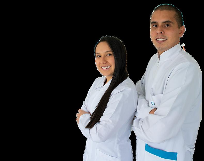 Dra Mabel Gomez y Dr. Christian Cardenas