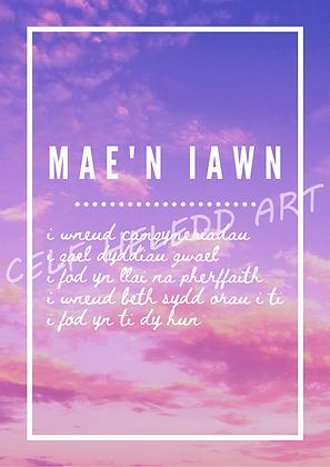 Mae'n iawn - A4