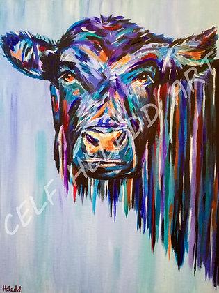Anifail ar ganfas - Animal on canvas A2