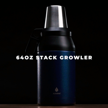 Manna Hydration - 64oz Stack Growler