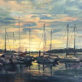 Sunset on the Deben / Sunny Lee Flack