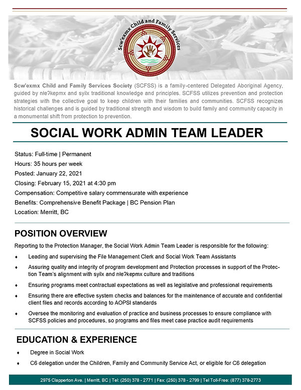 Social Work ADMIN TL page 1- January 202