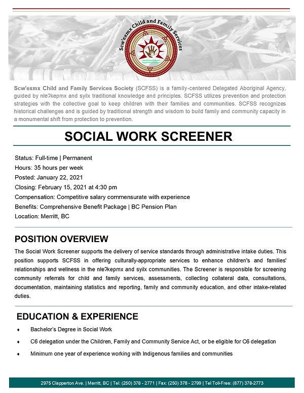 Social Work Screener page 1- January 202