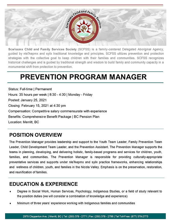 Prevention Manager page 1 -January 2021.