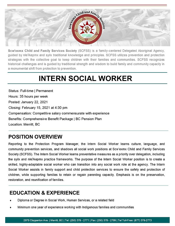 Intern Social Worker page 1- January 202